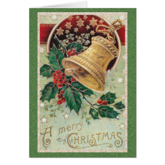 Vintage Christmas Bell Merry Christmas Note Card