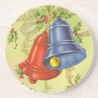 Vintage Christmas Bells Coaster