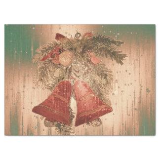 vintage christmas bells tissue paper