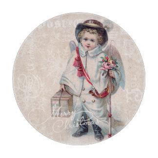 Vintage Christmas Boy Cutting Board