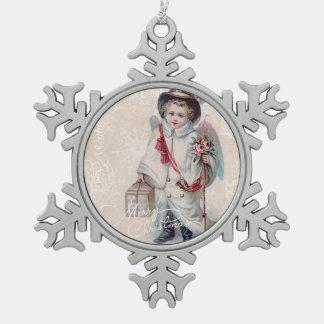 Vintage Christmas Boy Ornament