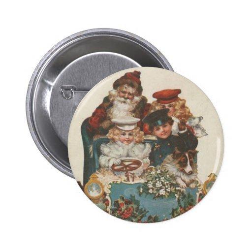 Vintage Christmas Car Buttons