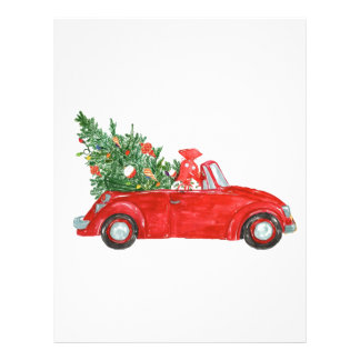 Vintage Christmas Car Customized Letterhead