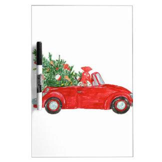 Vintage Christmas Car Dry Erase Board