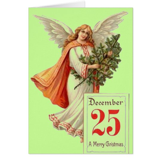 Vintage Christmas Card - angel