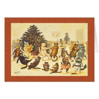 Vintage Christmas Card, Arthur Thiele Cats Card