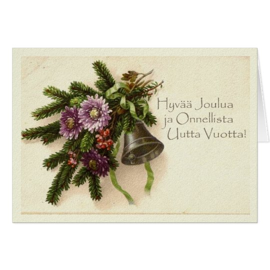 Vintage Christmas Card in Finnish