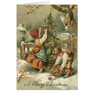Vintage Christmas Card - Very sweet card