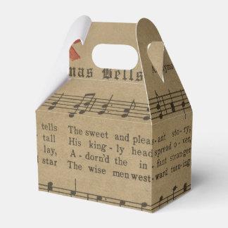 Vintage Christmas Carol Music Sheet Favor Box