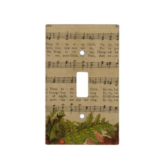 Vintage Christmas Carol Music Sheet Light Switch Cover