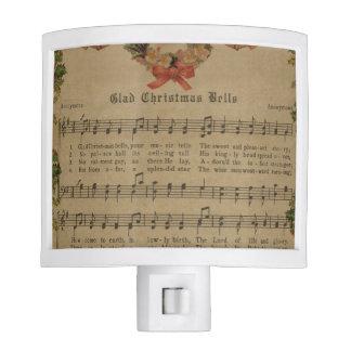 Vintage Christmas Carol Music Sheet Nite Lites