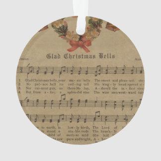 Vintage Christmas Carol Music Sheet Ornament