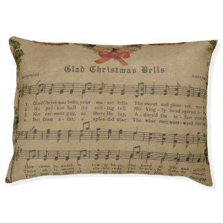 Vintage Christmas Carol Music Sheet Pet Bed