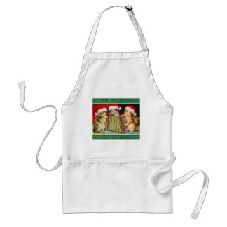 Vintage Christmas Cats Standard Apron