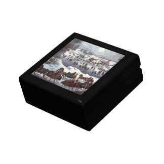 Vintage Christmas, Central Park in Winter Keepsake Box