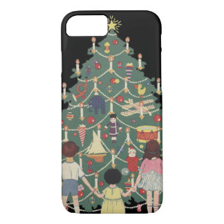 Vintage Christmas Children Around a Decorated Tree iPhone 7 Case
