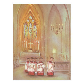 Vintage Christmas Choir Postcard
