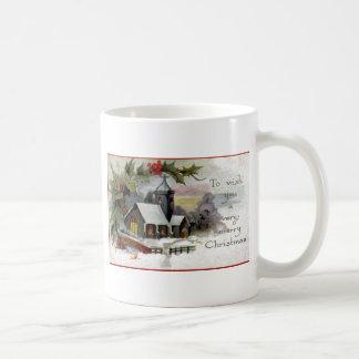 Vintage Christmas Church Coffee Mug