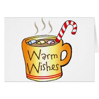 Vintage Christmas Cocoa Coffee Mug Card