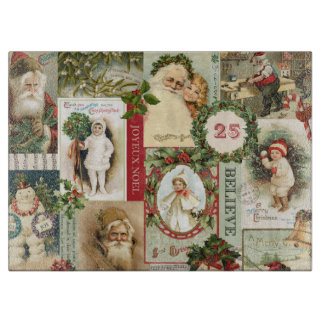 VINTAGE CHRISTMAS COLLAGE BOARDS