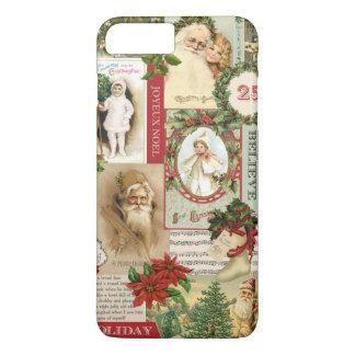 VINTAGE CHRISTMAS COLLAGE iPhone 8 PLUS/7 PLUS CASE