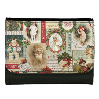 VINTAGE CHRISTMAS COLLAGE WOMEN'S WALLET