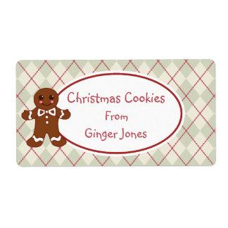 Vintage Christmas Cookies Kitchen Labels