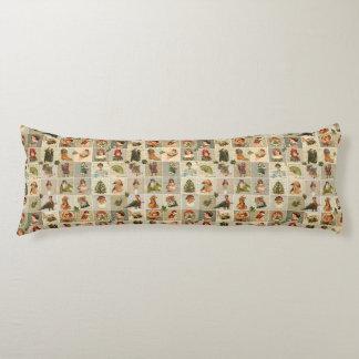 """Vintage Christmas Cotton Body Pillow ( 20"""" x 54"""")"""