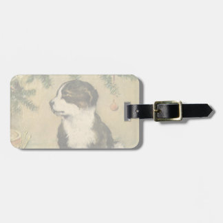 Vintage Christmas Cute Puppy Dog Tags For Bags