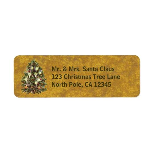 Vintage Christmas, Decorated Victorian Tree