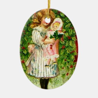 Vintage Christmas Doll Ornament