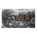 Vintage Christmas, Early Winter, Skaters on Pond Double-Sided Standard Business Cards (Pack Of 100)