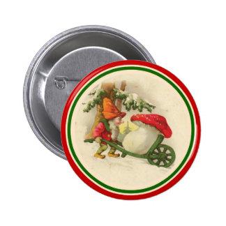 Vintage Christmas Elf 1910 2 Inch Round Button