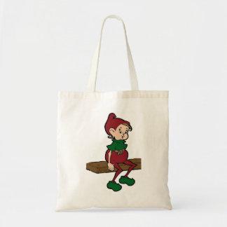 Vintage Christmas Elf Tote Bag