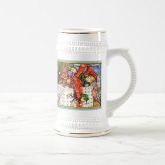 Vintage Christmas Elves Mug/Stein Beer Stein
