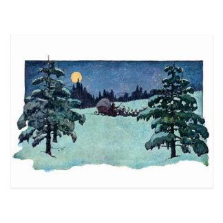 Vintage Christmas Eve Santa Claus Postcard