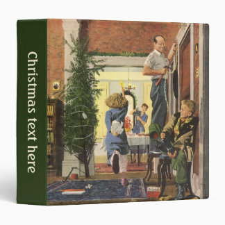 Vintage Christmas, Family Decorating the House Binder