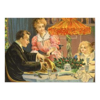 Vintage Christmas, Family Dinner Invitation