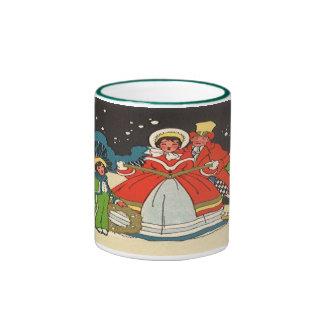 Vintage Christmas, Family Singing Carols Mug