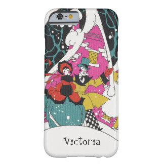 Vintage Christmas, Fancy Victorian Town People Barely There iPhone 6 Case