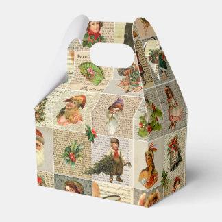 Vintage Christmas Favor Box