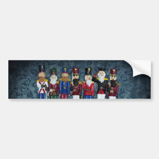 Vintage Christmas Figures Bumper Sticker
