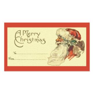Vintage Christmas Gift Tag Business Card