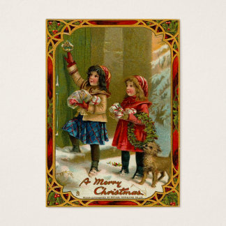 Vintage Christmas Gift Tags Business Card