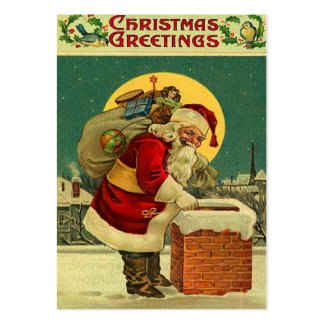 Vintage Christmas Gift Tags Large Business Card