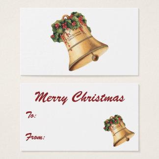 Vintage Christmas Golden Bells, Season's Greetings Business Card
