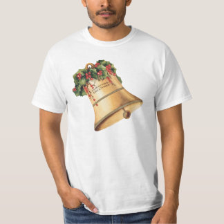 Vintage Christmas Golden Bells, Season's Greetings T-Shirt