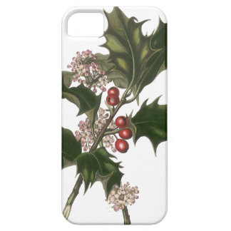 Vintage Christmas, Green Holly Plant with Berries iPhone 5 Cases
