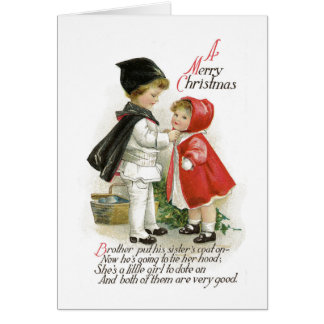 Vintage Christmas Greeting Card Traditional Card