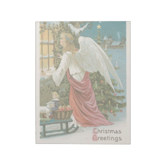 Vintage Christmas Holiday Angel Visitor Salvation Notepads